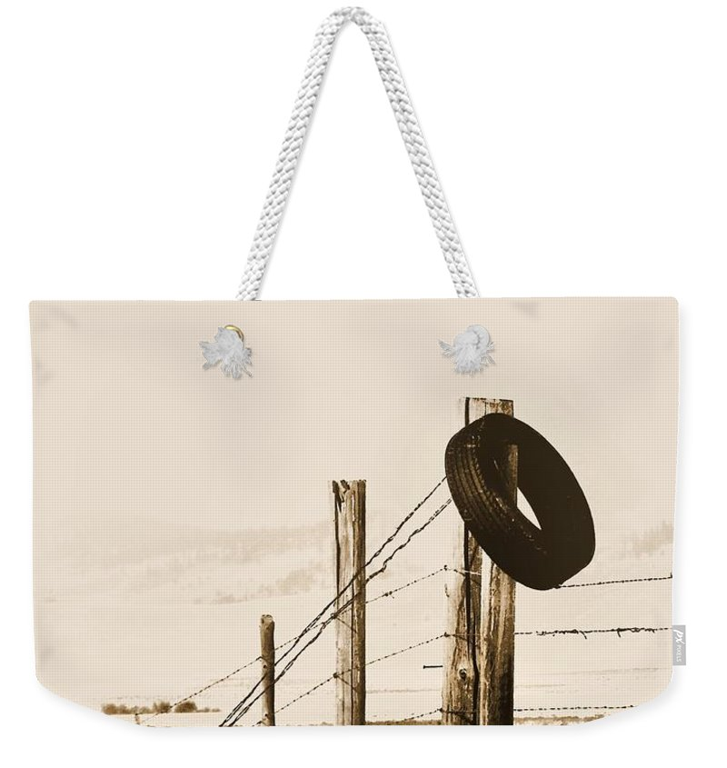Montana Weekender Tote Bag featuring the photograph Hangin Around Montana by Susan Kinney