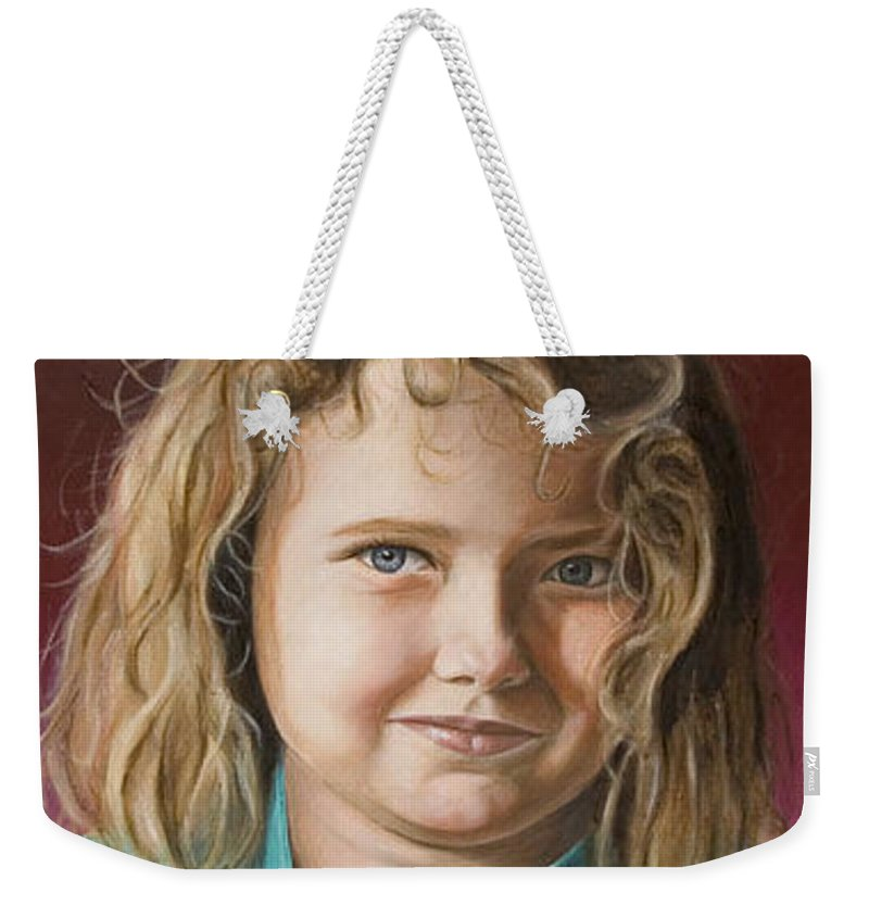 Portrait Weekender Tote Bag featuring the painting Hanna by Rob De Vries