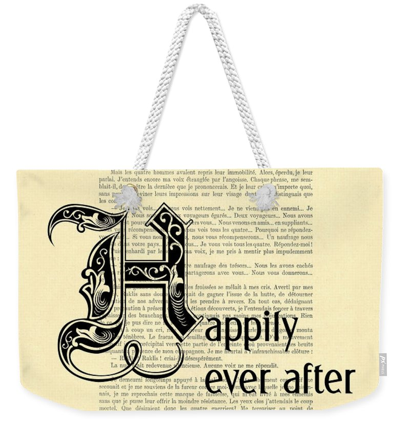 Happily Ever After Weekender Tote Bag featuring the digital art Happily Ever After by Madame Memento