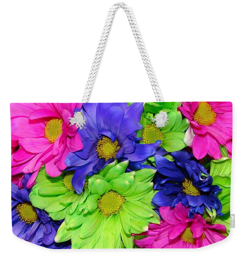 Flowers Weekender Tote Bag featuring the photograph Happiness by J R  Seymour
