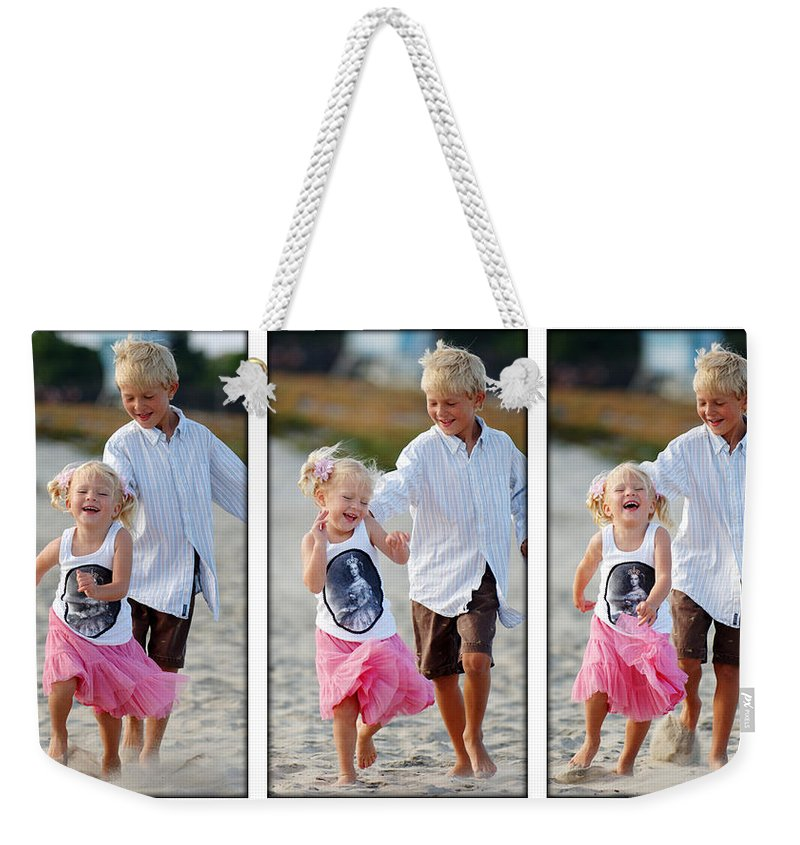 Happy Contest Weekender Tote Bag featuring the photograph Happy Contest 15 by Jill Reger