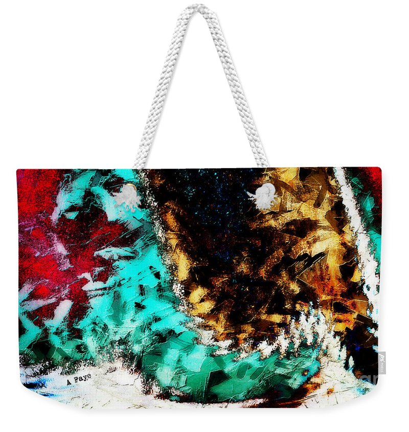 Dog Tails Weekender Tote Bag featuring the digital art Dog Tails by Anita Faye