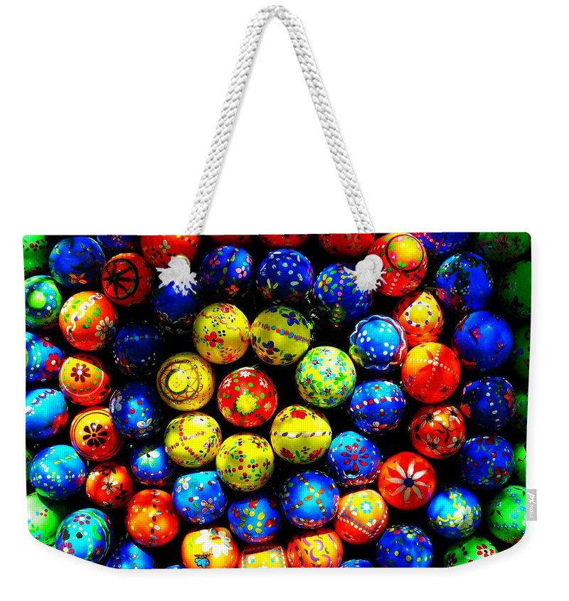 Easter Weekender Tote Bag featuring the photograph Happy Easter by Juergen Weiss