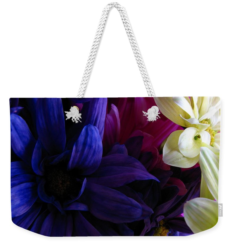 Patzer Weekender Tote Bag featuring the photograph Happy Flowers by Greg Patzer