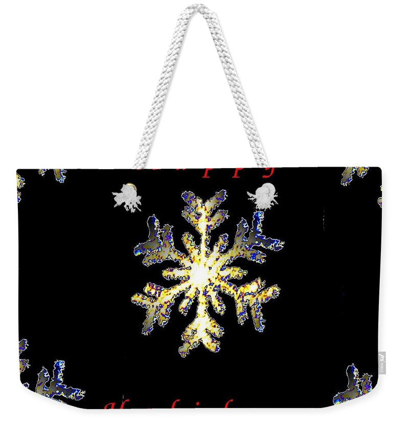 Holiday Weekender Tote Bag featuring the photograph Happy Holiday Snowflakes by Tim Allen