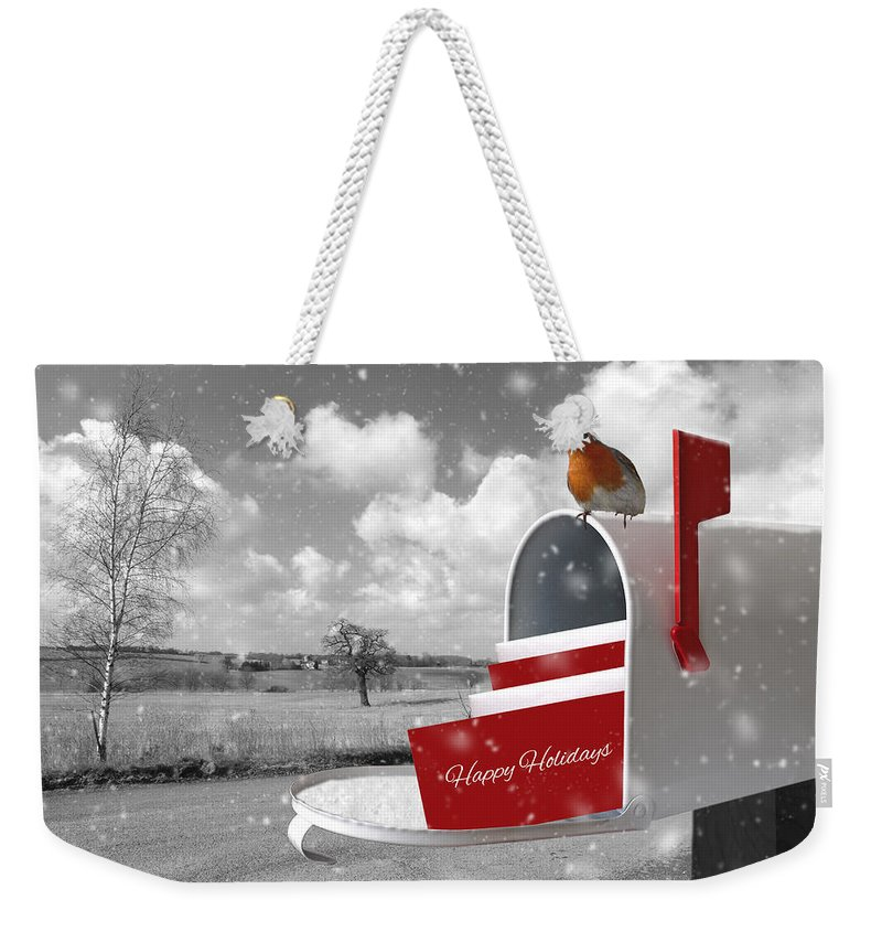 Happy Holiday Weekender Tote Bag featuring the photograph Happy Holidays Mail by Gill Billington