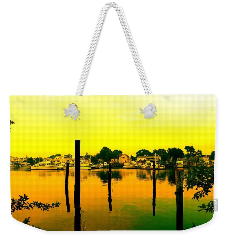 Waterscape Weekender Tote Bag featuring the photograph Happy Homes by Kendall Eutemey