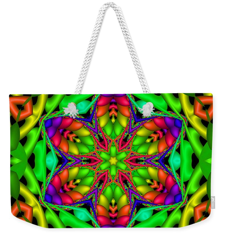 Bright Weekender Tote Bag featuring the digital art Happy Hour by Robert Orinski