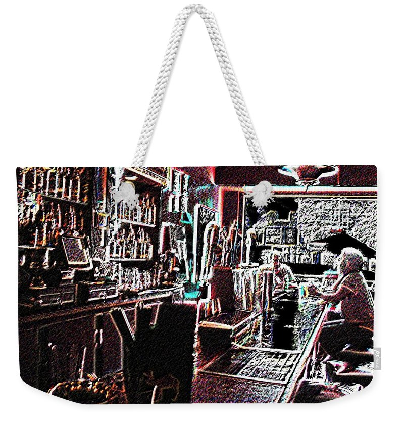 Bar Weekender Tote Bag featuring the photograph Happy Hour by Tim Allen