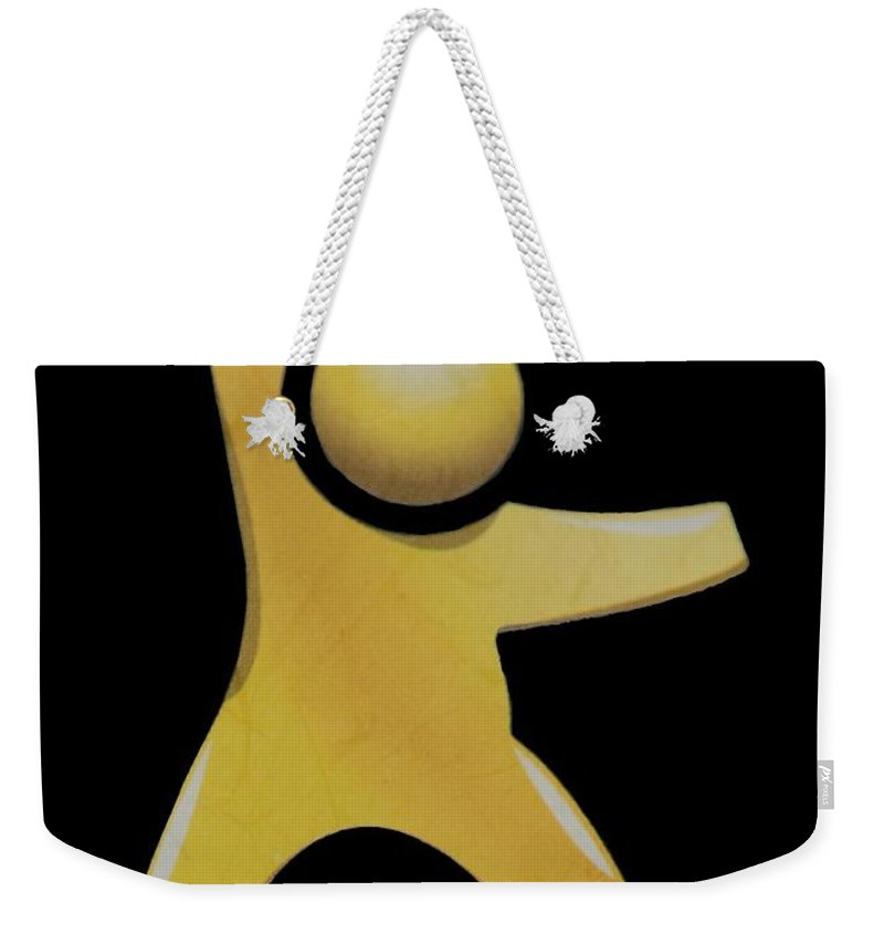 Man Weekender Tote Bag featuring the photograph Happy Man by Rob Hans