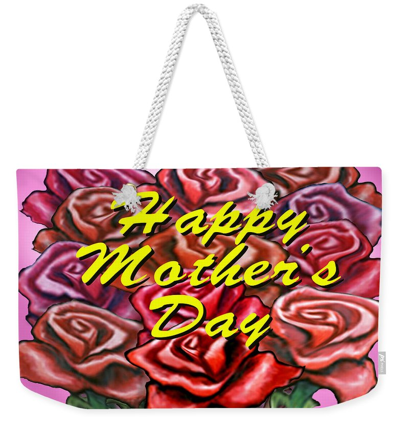 Mom Weekender Tote Bag featuring the painting Happy Motherer's Day by Kevin Middleton