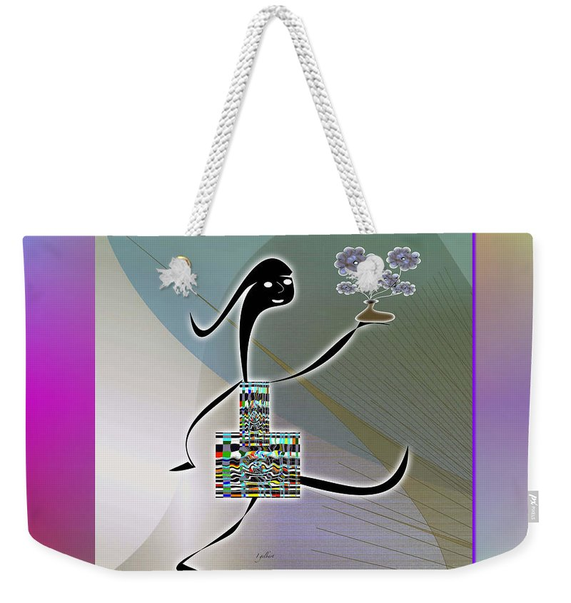 Drawing Weekender Tote Bag featuring the digital art Happy Mother's Day  2 by Iris Gelbart