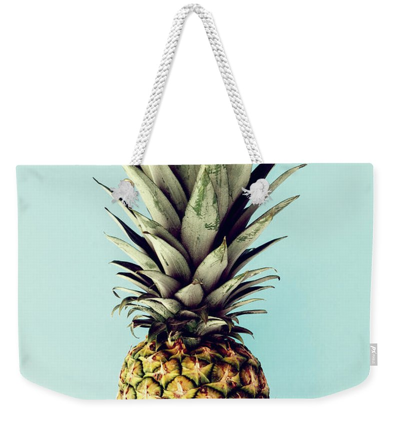 Weekender Tote Bag featuring the digital art Happy Pinneaple by Rafael Farias