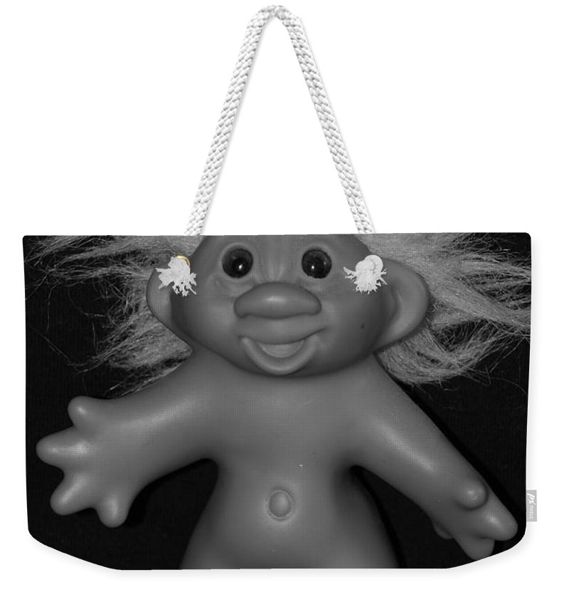 Happy Weekender Tote Bag featuring the photograph Happy Troll by Rob Hans