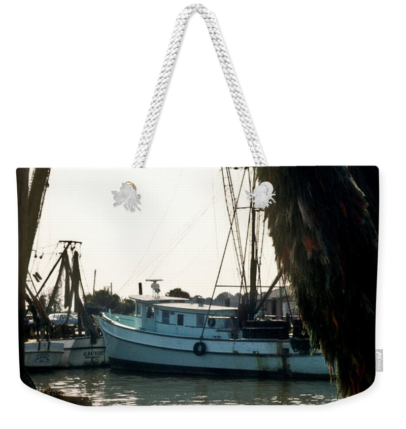 Harbor Weekender Tote Bag featuring the photograph Harbor Boats by Douglas Barnett
