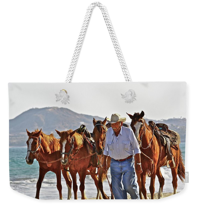 Animals Weekender Tote Bag featuring the photograph Hardworking Man by Diana Hatcher
