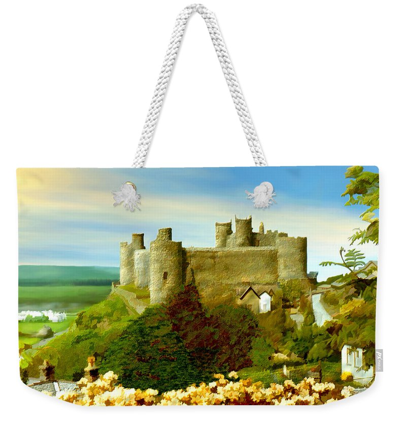 Castles Weekender Tote Bag featuring the photograph Harlech Castle by Kurt Van Wagner
