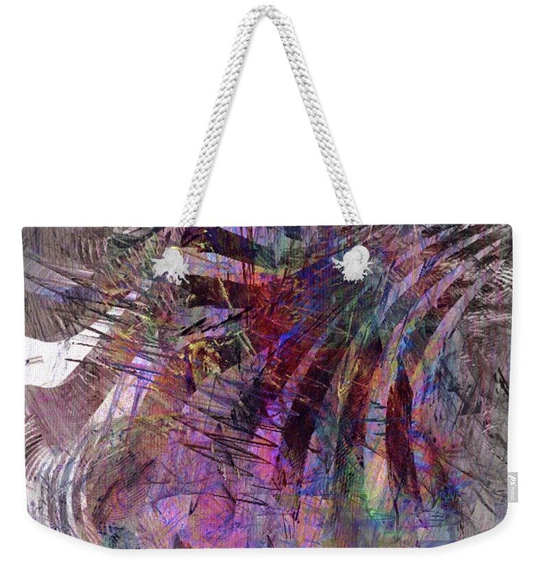 Harmonic Resonance Weekender Tote Bag featuring the digital art Harmonic Resonance by John Beck