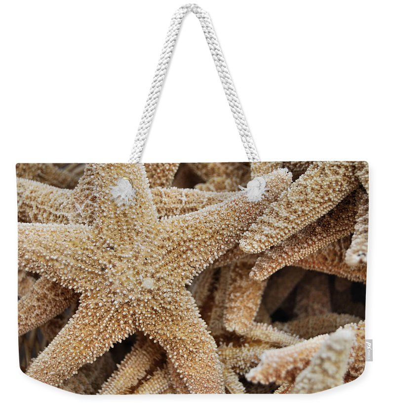 Star Weekender Tote Bag featuring the photograph Harmonious Starfish by JAMART Photography