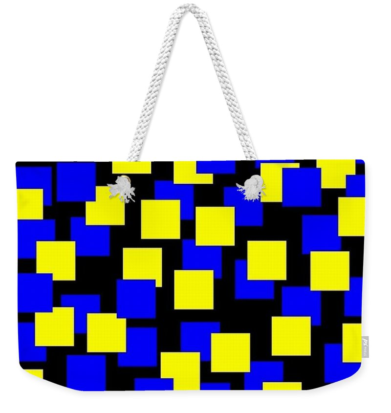 Abstract Weekender Tote Bag featuring the digital art Harmony 1 by Will Borden