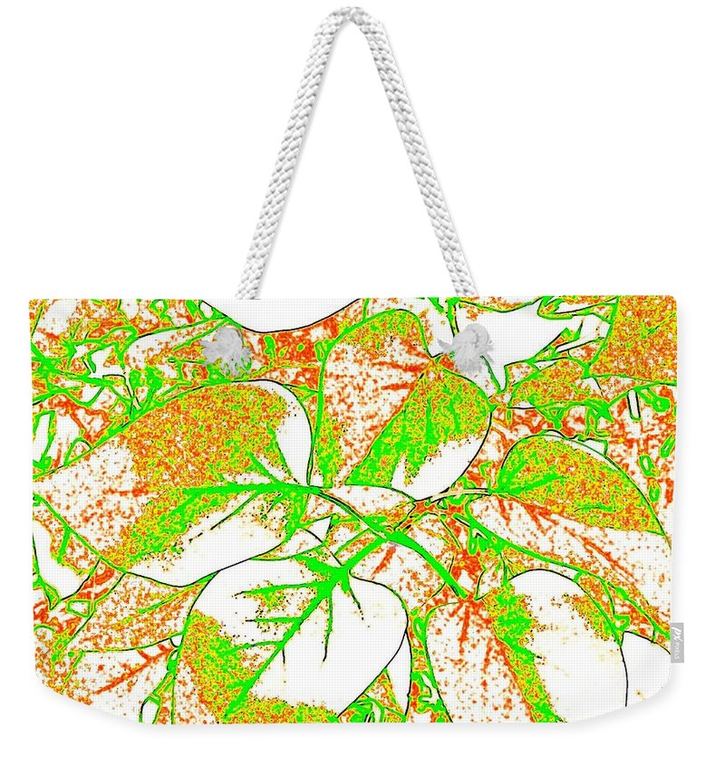 Abstract Weekender Tote Bag featuring the digital art Harmony 11 by Will Borden