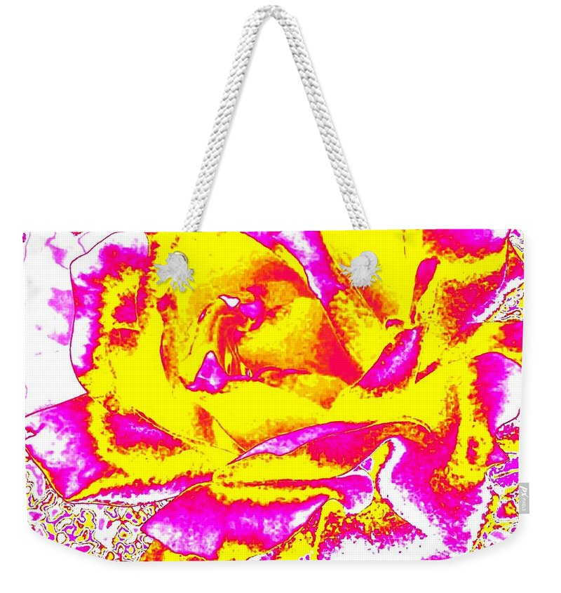 Abstract Weekender Tote Bag featuring the digital art Harmony 12 by Will Borden