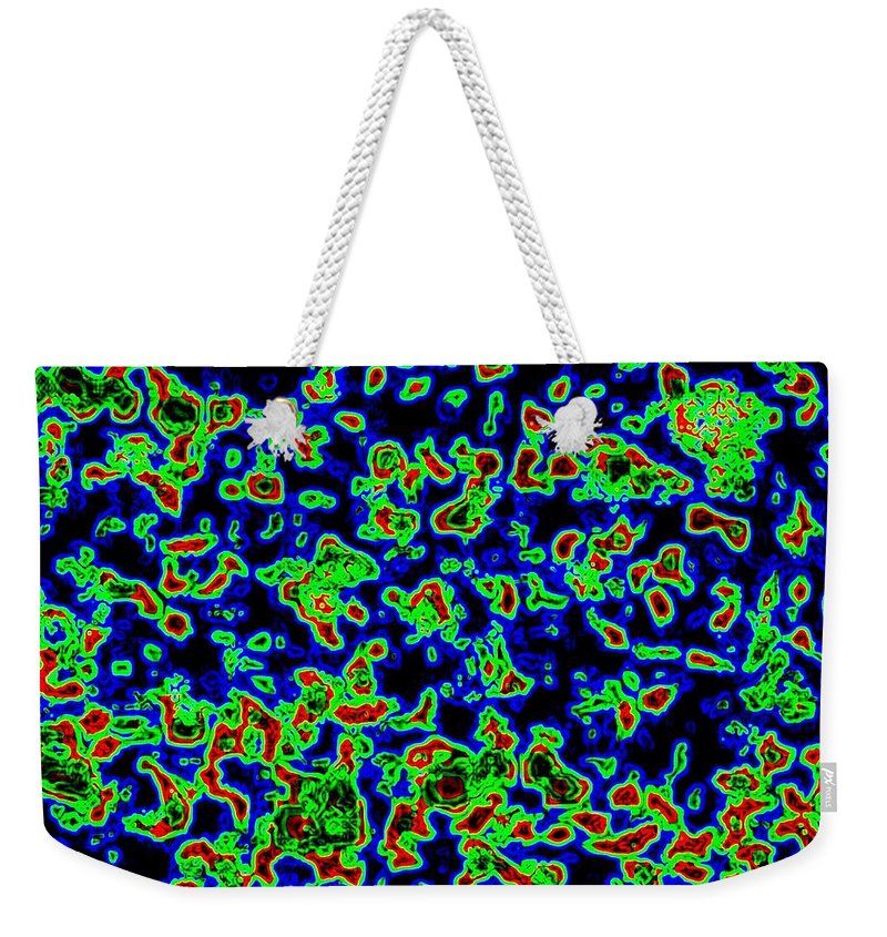 Abstract Weekender Tote Bag featuring the digital art Harmony 14 by Will Borden