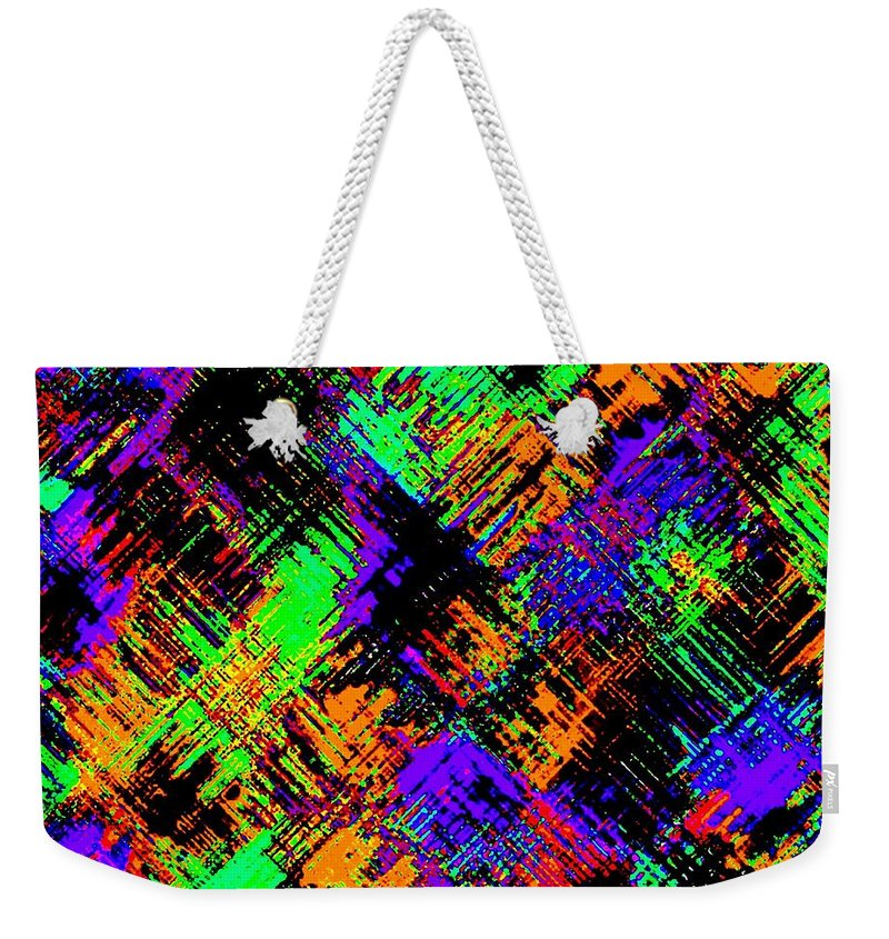 Abstract Weekender Tote Bag featuring the digital art Harmony 15 by Will Borden