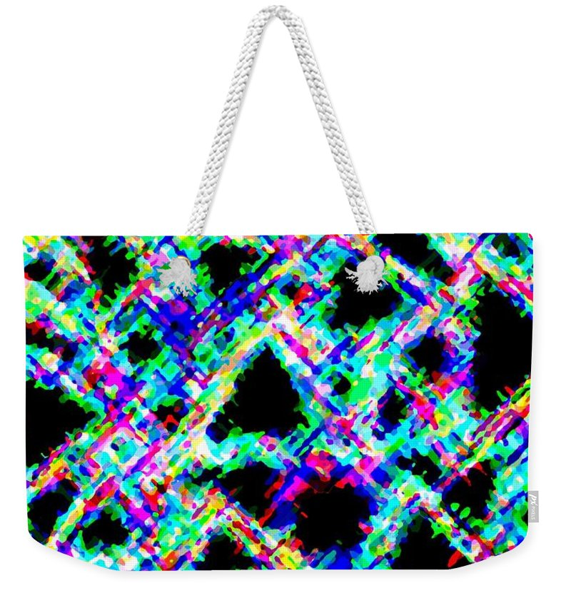 Abstract Weekender Tote Bag featuring the digital art Harmony 18 by Will Borden