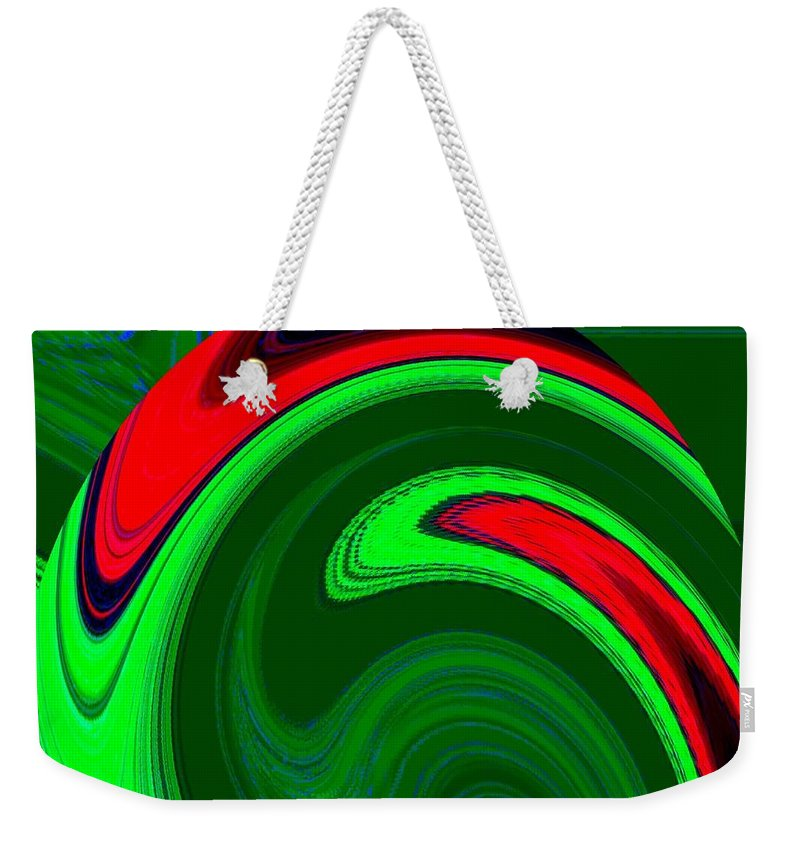 Abstract Weekender Tote Bag featuring the digital art Harmony 20 by Will Borden
