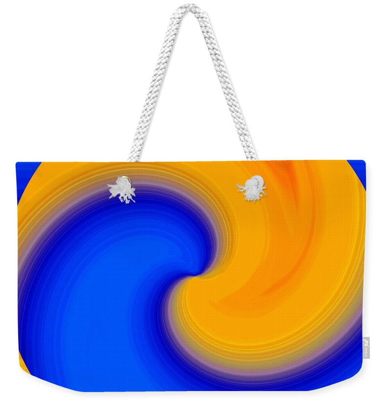 Abstract Weekender Tote Bag featuring the digital art Harmony 23 by Will Borden