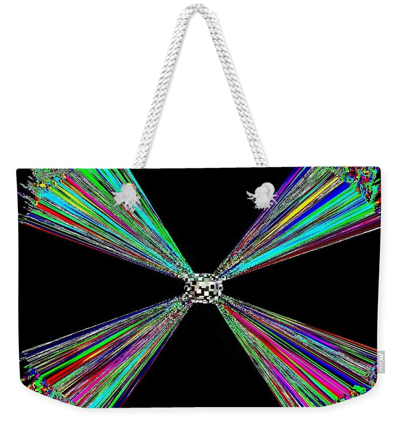 Abstract Weekender Tote Bag featuring the digital art Harmony 25 by Will Borden