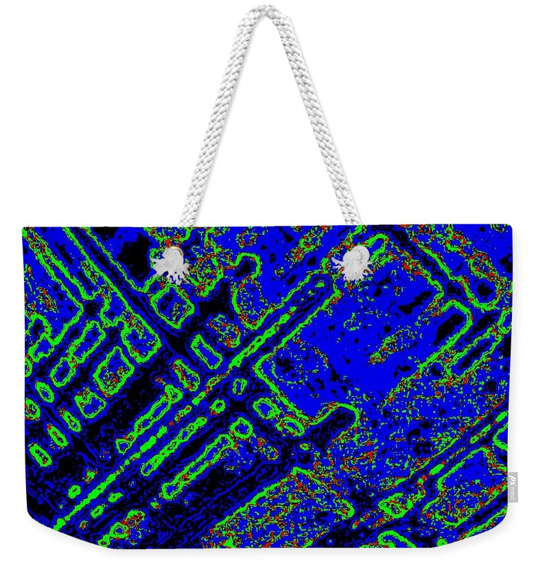 Abstract Weekender Tote Bag featuring the digital art Harmony 3 by Will Borden