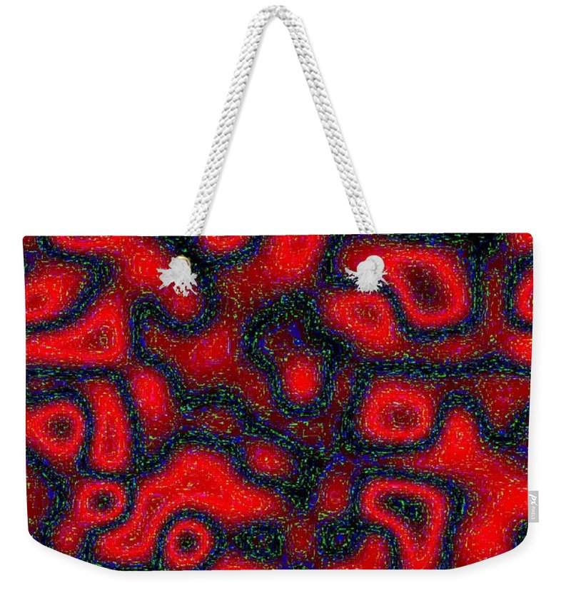 Abstract Weekender Tote Bag featuring the digital art Harmony 30 by Will Borden