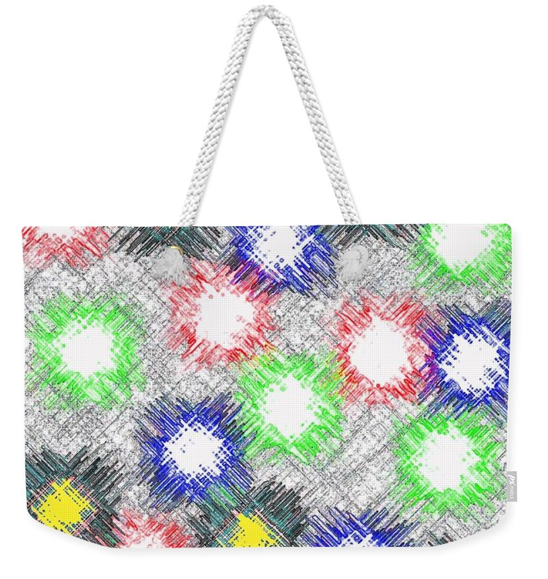 Abstract Weekender Tote Bag featuring the digital art Harmony 32 by Will Borden