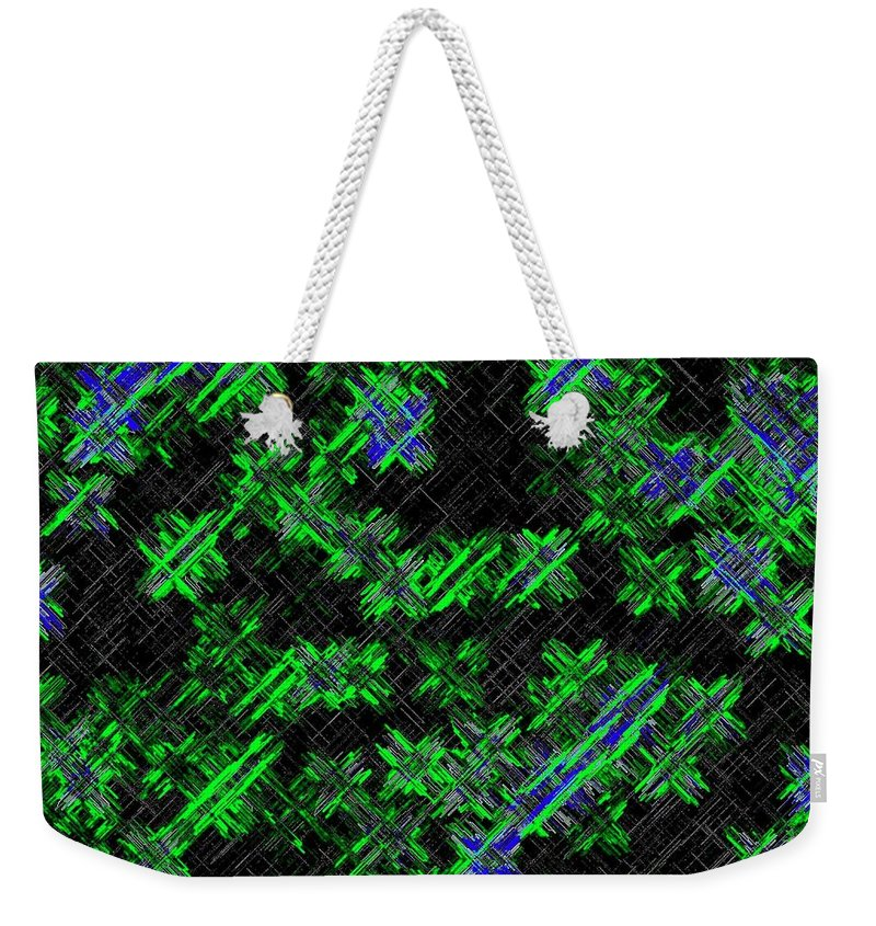 Abstract Weekender Tote Bag featuring the digital art Harmony 33 by Will Borden