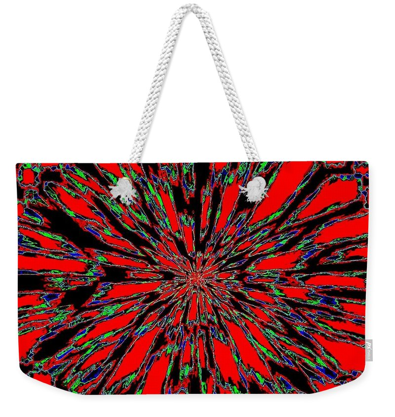 Abstract Weekender Tote Bag featuring the digital art Harmony 37 by Will Borden