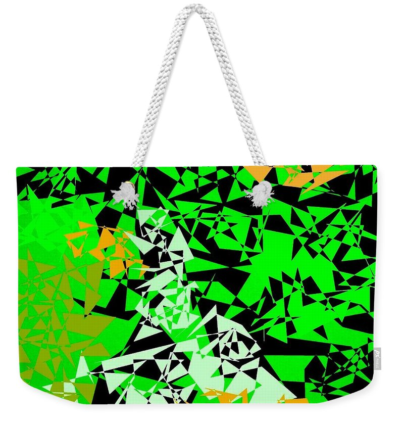 Abstract Weekender Tote Bag featuring the digital art Harmony 5 by Will Borden