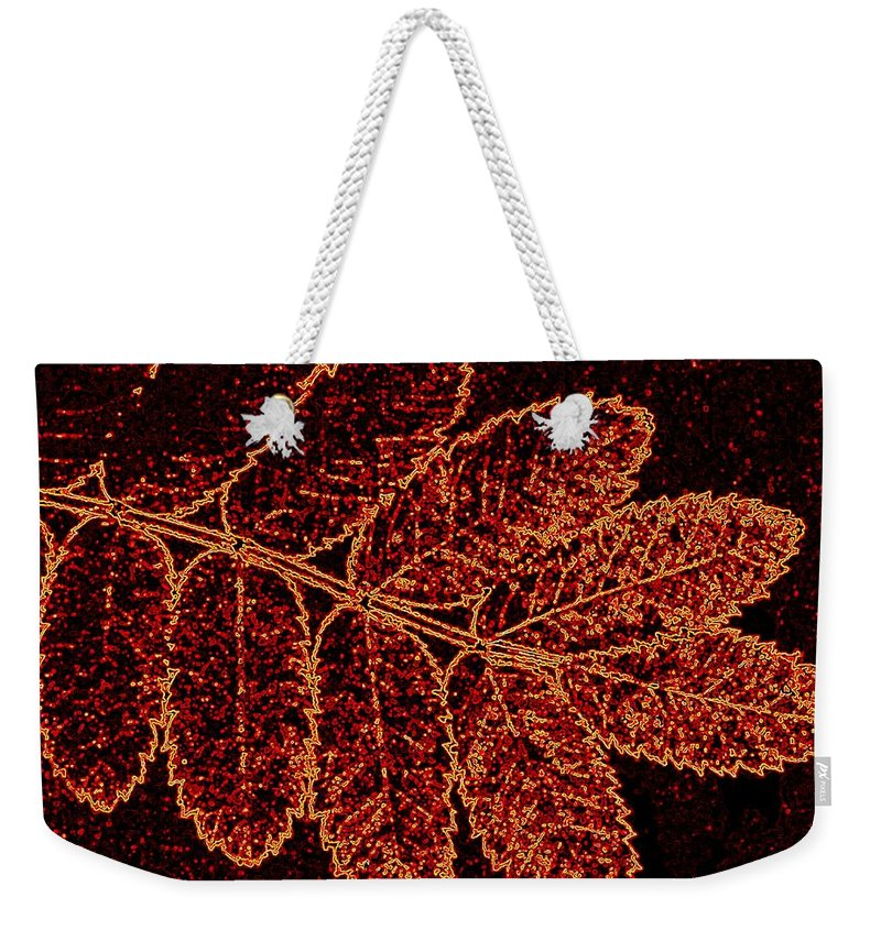 Abstract Weekender Tote Bag featuring the digital art Harmony 9 by Will Borden