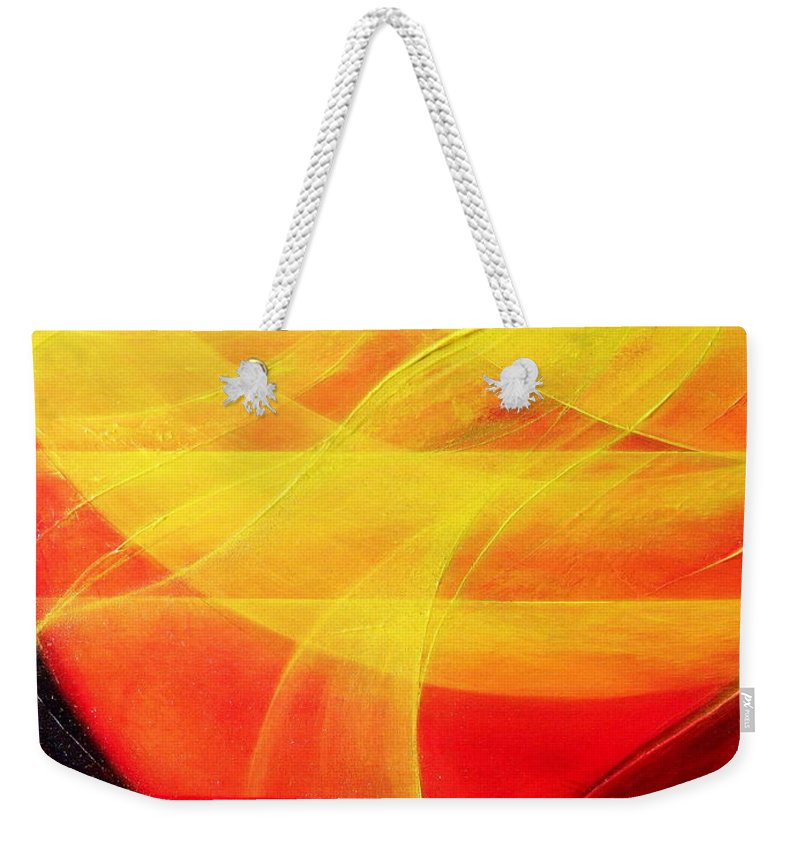 Harmony Weekender Tote Bag featuring the painting Harmony by Kumiko Mayer