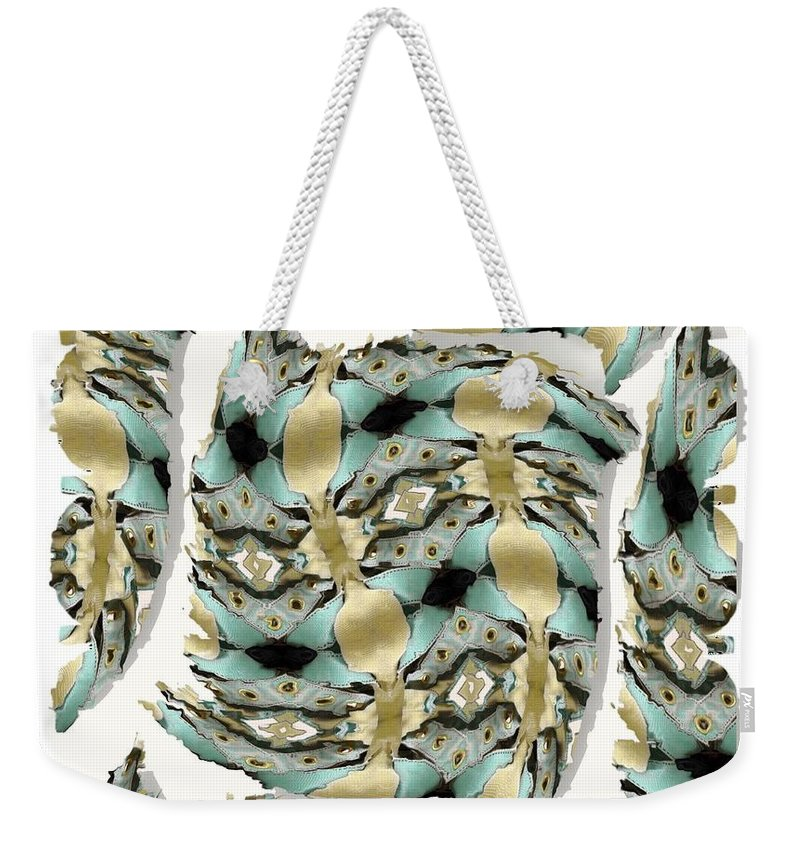 Abstract Weekender Tote Bag featuring the digital art Harnesses Plus by Ron Bissett