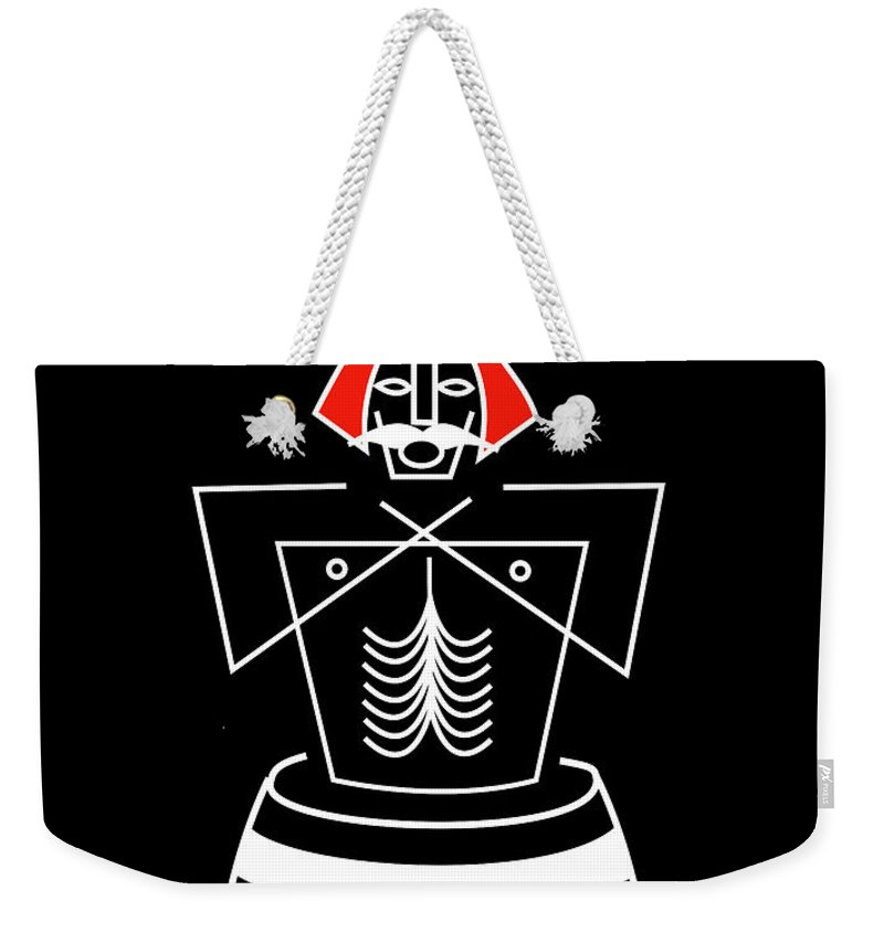 Bluetooth Weekender Tote Bag featuring the mixed media Harold Bluetooth by Asbjorn Lonvig