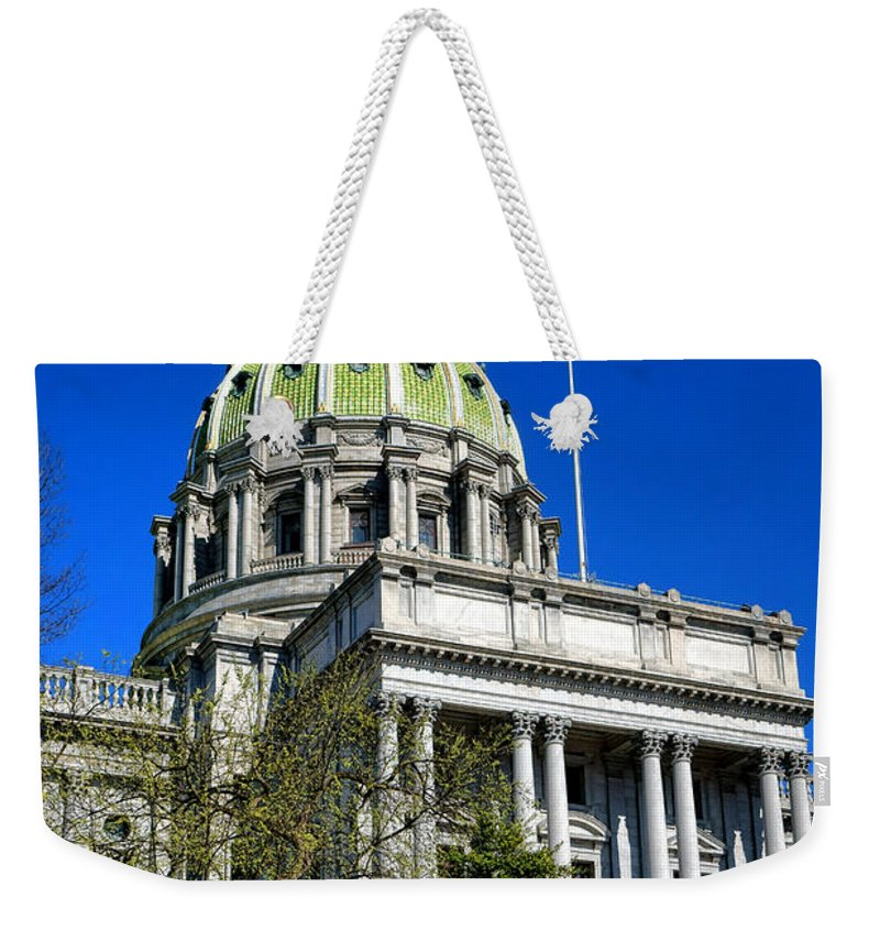Harrisburg Weekender Tote Bag featuring the photograph Harrisburg Capitol Building by Olivier Le Queinec