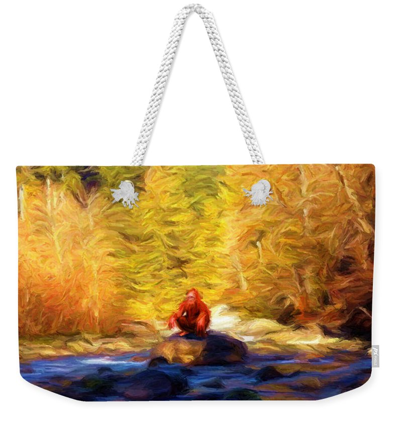 Big Foot Weekender Tote Bag featuring the digital art Harry's Bath by Caito Junqueira