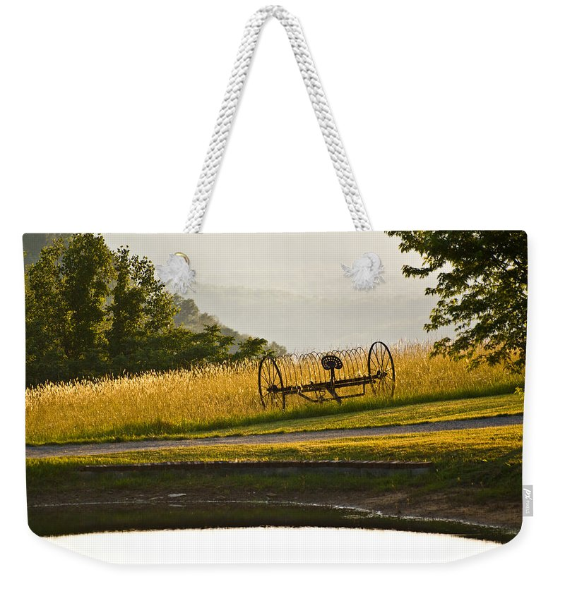 Harvast Weekender Tote Bag featuring the photograph Harvast Rest by Douglas Barnett