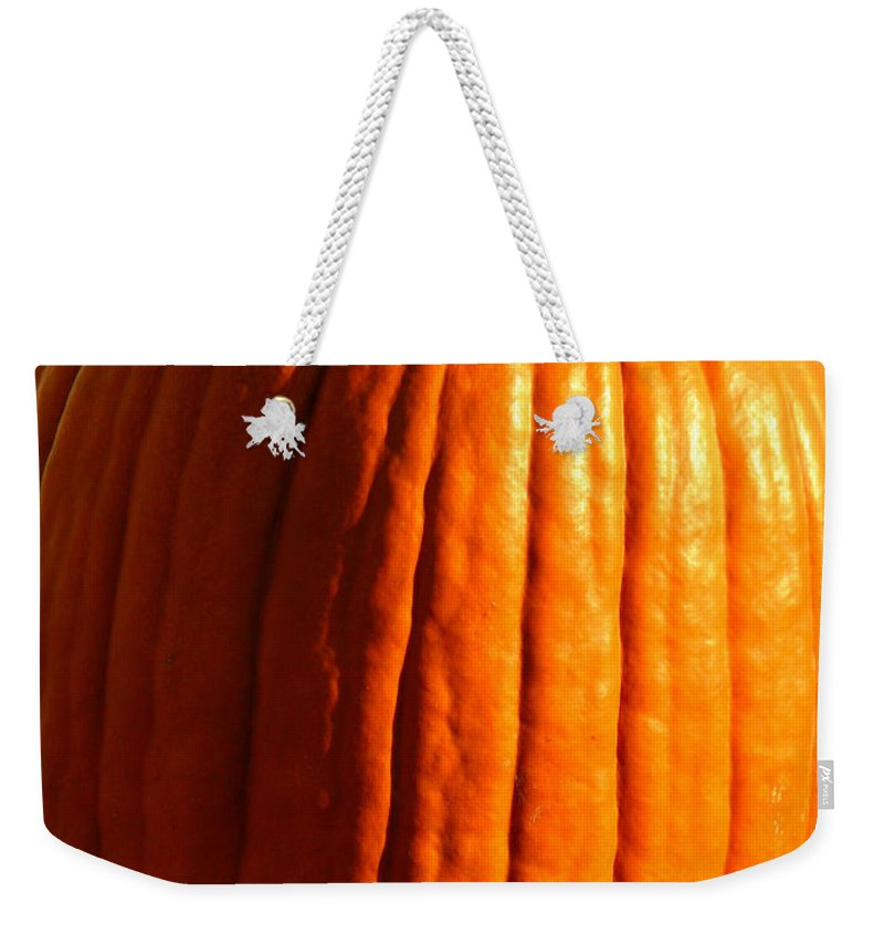 Pumpkin Weekender Tote Bag featuring the photograph Harvest by Amanda Barcon