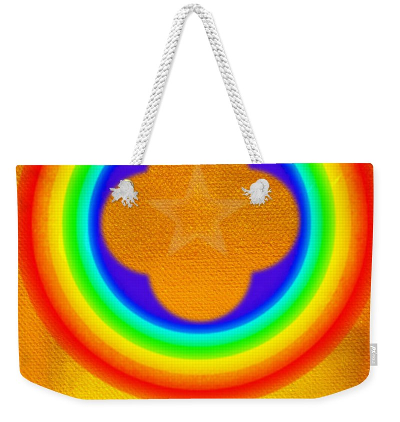 Abstract Weekender Tote Bag featuring the painting Harvest Gold by Charles Stuart