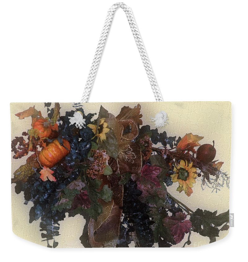 Autumn Weekender Tote Bag featuring the painting Harvest Home by RC DeWinter