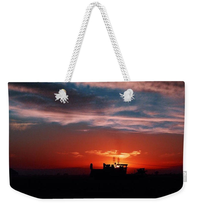 Sunset Weekender Tote Bag featuring the photograph Harvest by Peter Piatt