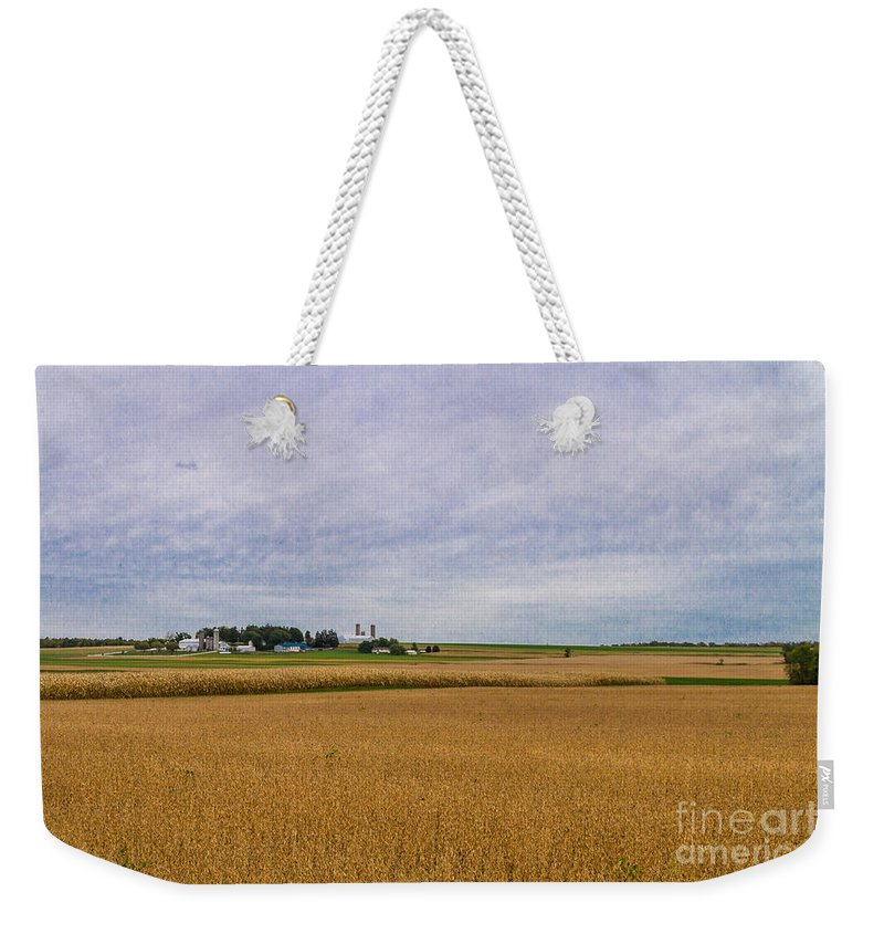 Harvest Weekender Tote Bag featuring the photograph Harvest Time by William Norton